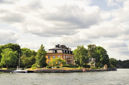 swedish: Vaxholm a Swedish city in Stockholm archipelago.