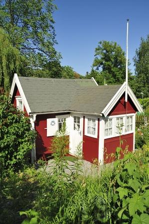 scandinavian peninsula: Idyllic summerhouse with a beautiful garden