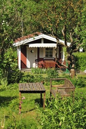 idyllic: Idyllic summerhouse with a beautiful garden