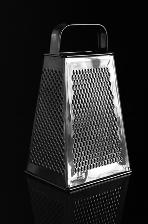 metal grater: Metal grater. Isolated on black background