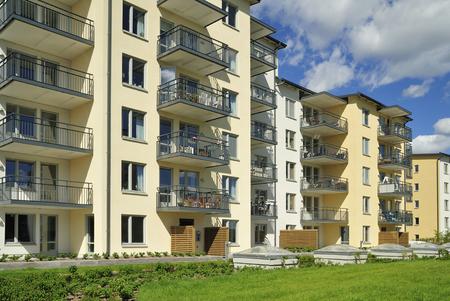 Moderne flatgebouwen