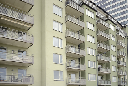 homeownership: Modern apartment buildings in new neighborhood