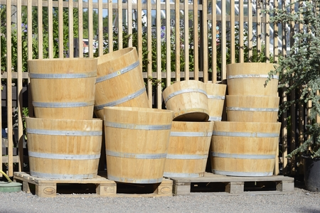 planters: New large and small cedar planters for the garden