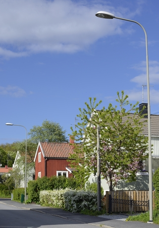 building structure: Swedish housing, Stockholm in Sweden Stock Photo
