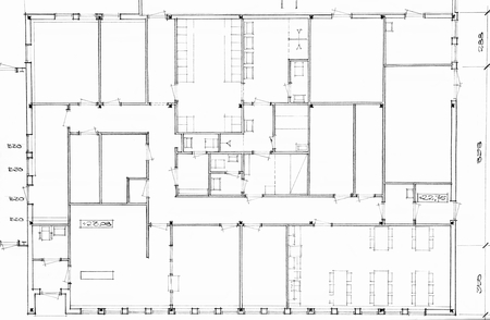 homeownership: Architectural background - plan of the house - Illustration