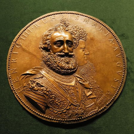 Medallion of Henri IV le Grand with Marie de Medici