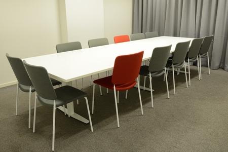 Interior de la moderna sala de reuniones