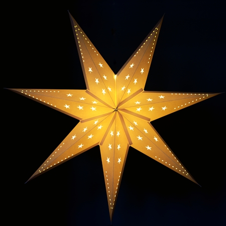 Christmas star with black background