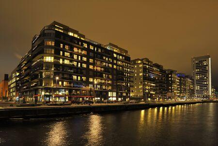 Apartment Block in evening, Stockholm area