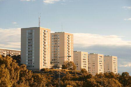 Apartment building in autumn. Liljeholmen - Sweden