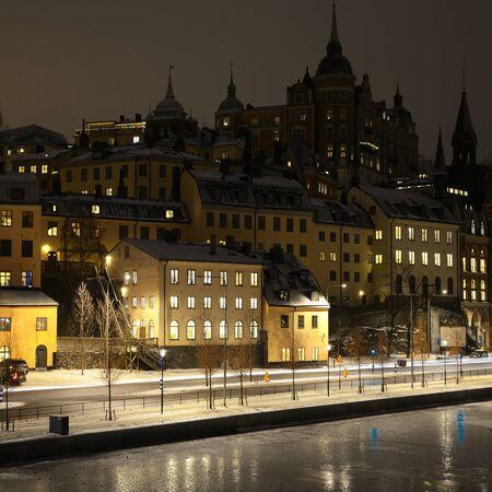 Old Town in winter.  Stockholm - Sweden