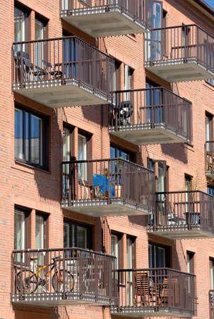 Modern apartment buildings in Stockholm - Sweden