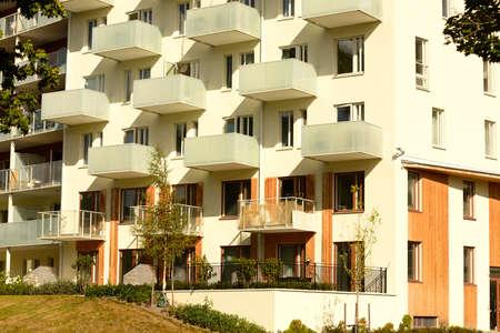 Modern apartment block Standard-Bild