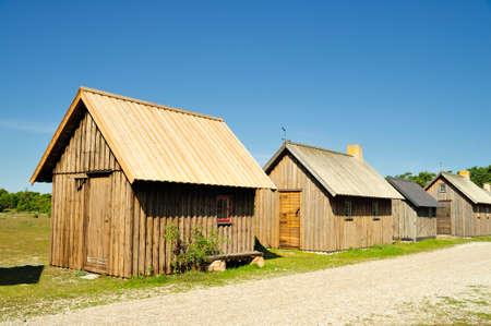Old fishing village in the Baltic sea, Gotland - Sweden Standard-Bild