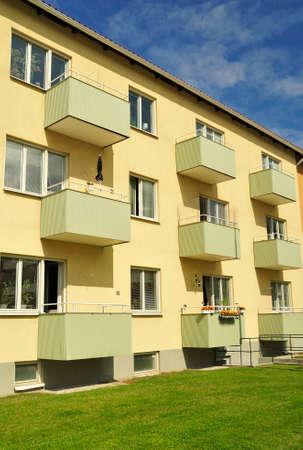 Apartment block with balconya