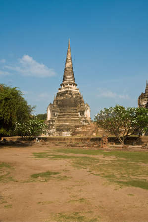 Stupa (chedi) of a Wat in Ayutthaya, Thailand. Ayutthaya city is the capital of Ayutthaya province in Thailand. Stock Photo - 7560069