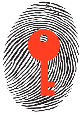 theft proof: Finger Print with red key