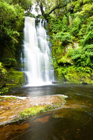 water ecosystem: McLean Falls in the Catlins of South New Zealand