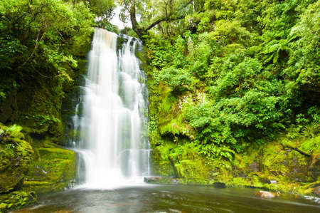 south island new zealand: Mac Lean Falls in the Catlins of South New Zealand