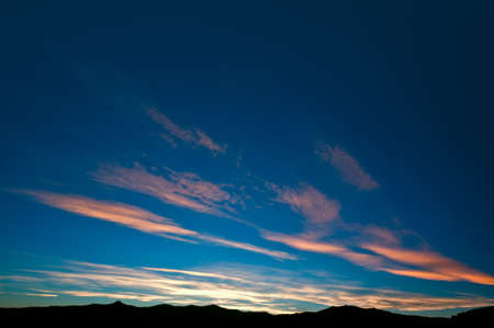 Burning evening sky towards end of sunset in nice colors Stock Photo - 8994978
