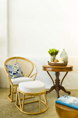 luxus: Table chair combination bamboo rattan seating area beautiful interior design