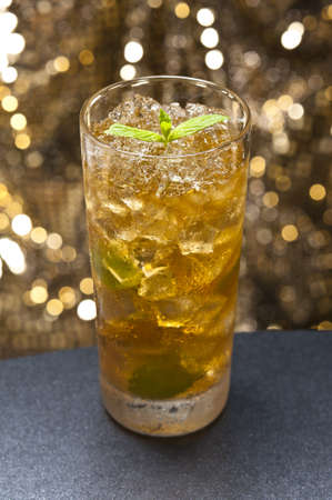 carbonate: Mint-Julep cocktail a old creation from the USA