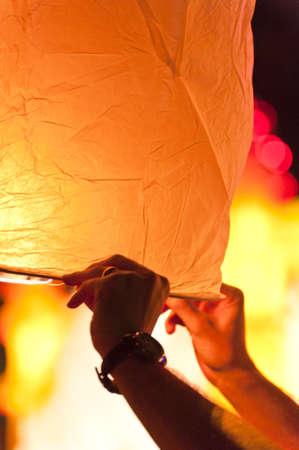 Loy Krathong festival Chiang Mai Thajsko Reklamní fotografie