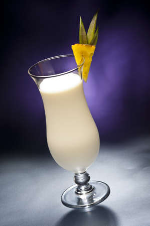 Pina Colada in front of beautiful background photo