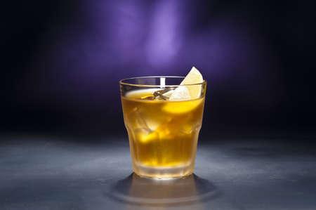rusty nail: A image of a single Rusty Nail Cocktail