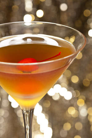 A image of a single Rob Roy Cocktail