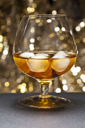 Whisky on the Rocks in front of beautiful background Stock Photo - 12233042