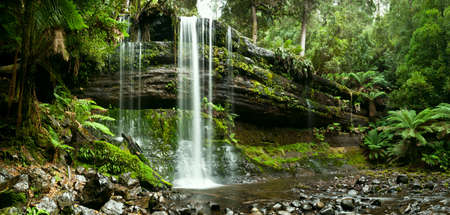 tasmania: Russell Falls, Mount Field National Park, Central Tasmania in autumn