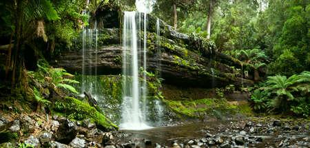 Russell Falls Mount Field National Park, Central Tasmania na podzim Reklamní fotografie