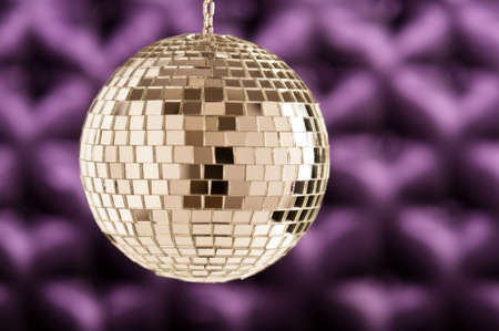 button tufted: Disco Mirror ball as a sphere clean with no disturbing reflections