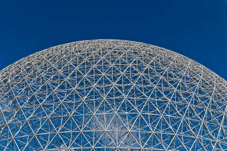 biosphere: Dome of the montreal biosphere on a sunny day Editorial