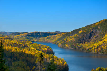 et: View of ferland et boilleau, Quebec, Canada Stock Photo