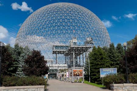 Biosphère de Montréal sur une journée ensoleillée, Canada Banque d'images - 16943692
