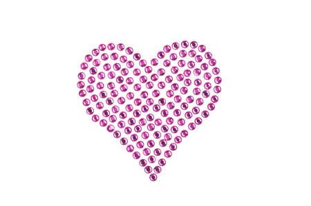 coeur diamant: Strass en forme de c?ur, de couleur rose