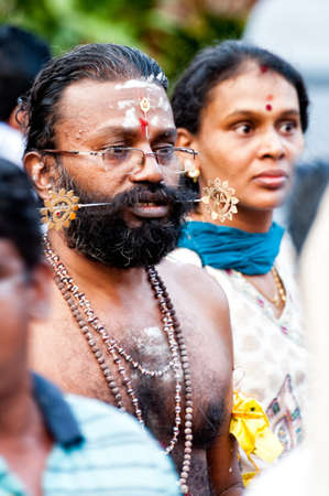 soulfulness:  SINGAPORE, 2013 JANUARY 27  Devotees at the annual Thaipusam processionin Singapore  Hindu festival to worship and to make offerings to the god Muruga   2013 JANUARY 27 Editorial