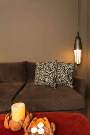 luxus: Corner of two seated sofa nice dark ambience