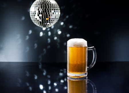 pilsener: Bier on Disco Bar with natural colors