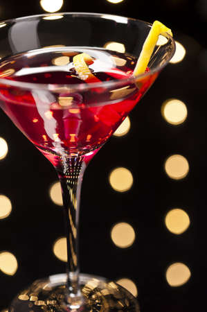 cosmo: Cosmopolitan Cosmo cocktail in Disco setting