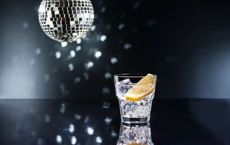 Gin Tonic Tom Collins on the dance floor Stock Photo - 19186593