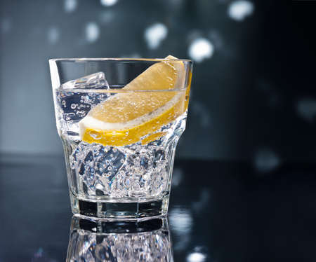 Gin Tonic Tom Collins on the dance floor Stock Photo