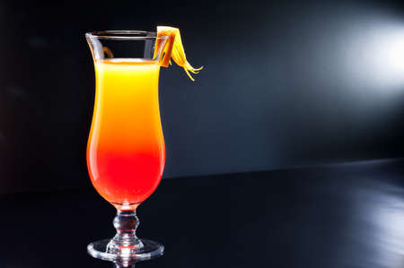 aperitif: Tequila Sunrise cocktail