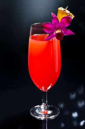 Singapore Sling Developed by Ngiam Tong Boon for the Raffles Hotel in Singapore in the early 1900 photo