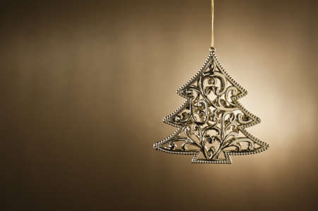 christmas element: Christmas tree ornament in from of a Christmas tree