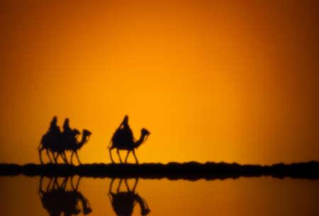Trois sages sur le chemin de Jésus à Bethléem