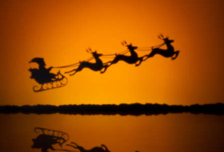 Santas sledge on his way to deliver presents photo