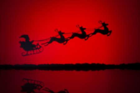 Santas sledge on his way to deliver presents photo